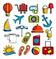 Travel trip and leisure icons vector image vector image
