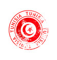 tunisia sign vintage grunge imprint with flag on vector image vector image