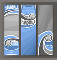 vertical banners for handball vector image