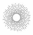 vintage sunburst in lines shape linear radial vector image vector image