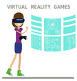 vr technology vector image