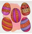 Watercolor ornamental Easter eggs set vector image vector image