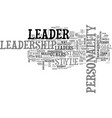 what kind of leader are you text word cloud vector image vector image