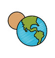 world earth and moon vector image vector image