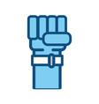 hand fist man vector image