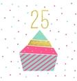 Birthday Cupcake Card vector image