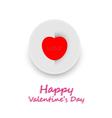 Card happy valentine day vector image