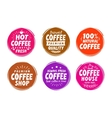 Coffee espresso symbols Set elements for design vector image