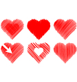 abstract hearts vector image vector image