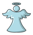 angel icon cartoon style vector image