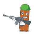 army cinnamon character cartoon style vector image vector image