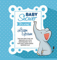 baby shower boy invitation card vector image vector image