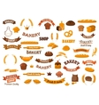 Bakery and pastry elements for design vector image vector image