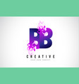 bb b b purple letter logo design with liquid vector image vector image