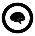 brain icon black color in circle vector image vector image