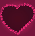 Cartoon heart drawn with cat paw footprints vector image vector image