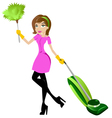 cleaning woman vector image vector image
