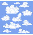 clouds color vector image vector image