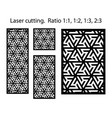 cnc decorative pattern jali design interior vector image vector image
