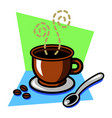 coffee drink icon vector image vector image