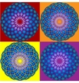 Collection of 4 Mandala Seamless pattern vector image vector image
