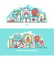 company ceo and human resources banner template vector image