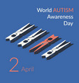 creative concept for world autism vector image vector image