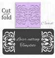 cut and fold card template vector image vector image
