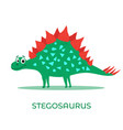 cute dinosaur stegosaurus cartoon drawn for tee vector image vector image