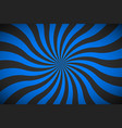 decorative retro blue spiral background swirling vector image vector image