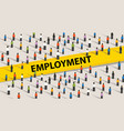 employment concept crowd of people individuality vector image vector image