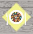 et of junk food vector image vector image