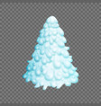fairy christmas tree fir-tree is covered vector image vector image