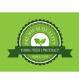 Farm fresh product label vector image vector image