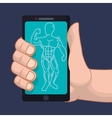 fitness app technology icons vector image
