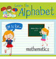 Flashcard letter M is for mathematics vector image vector image