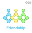 Friendship conceptual icon vector image