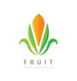 fruit leaves logo template design harvest concept vector image
