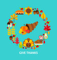 give thanks postcard vector image vector image