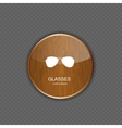 Glasses application icons vector image