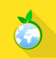 global green day icon flat style vector image