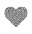 halftone line heart shape icon Heart vector image
