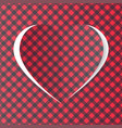 heart handmade vector image vector image
