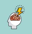 human brain concept image vector image vector image