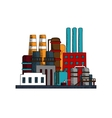 Industrial refinery factory buildings set vector image