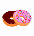 isolated fast food sweet doughnut vector image vector image