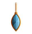 jewelry pendant icon cartoon style vector image