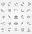 leasing and loan icons set vector image
