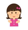 little girl icon Kid design graphic vector image