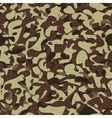Military camouflage brown pattern vector image